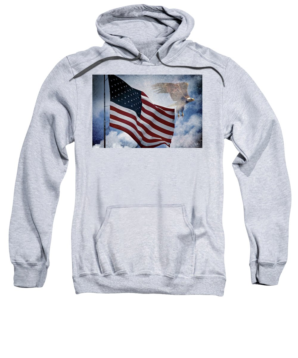 Eagle Sweatshirt featuring the photograph Freedom by Scott Pellegrin