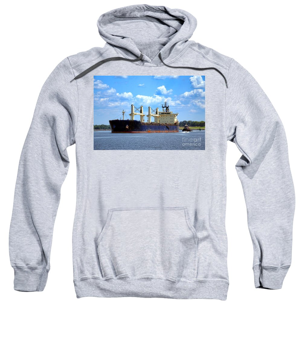Cargo Sweatshirt featuring the photograph Freight Hauler by Olivier Le Queinec