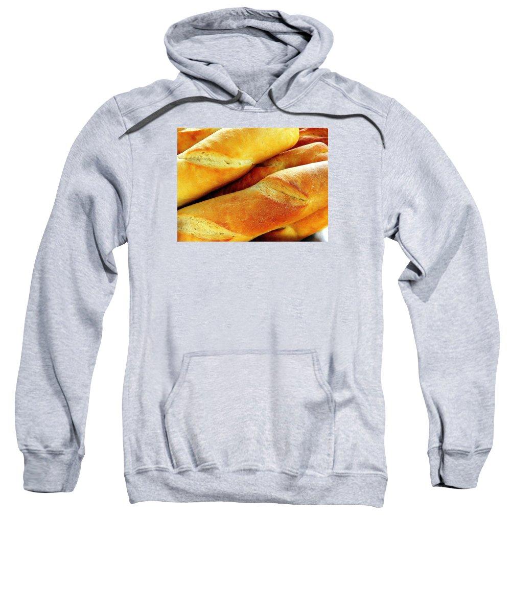 Farm Sweatshirt featuring the photograph French Bread by Jim Harris
