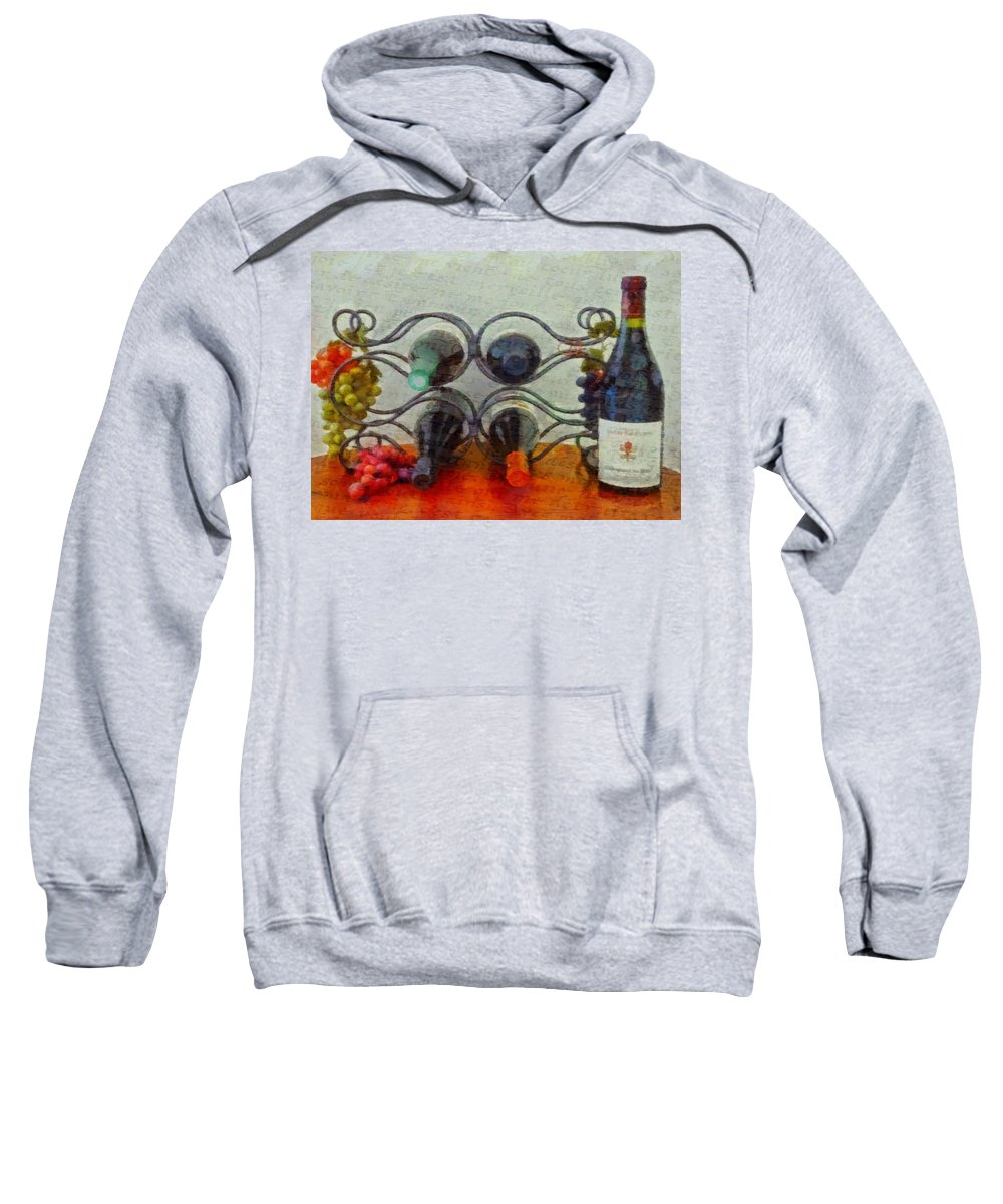 French Wine Rack Sweatshirt featuring the painting French Wine Rack by Dan Sproul
