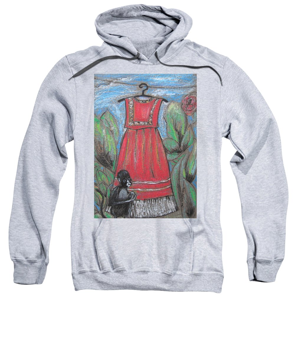 Frida Kahlo Sweatshirt featuring the painting Frida Homage II by Sue Wright