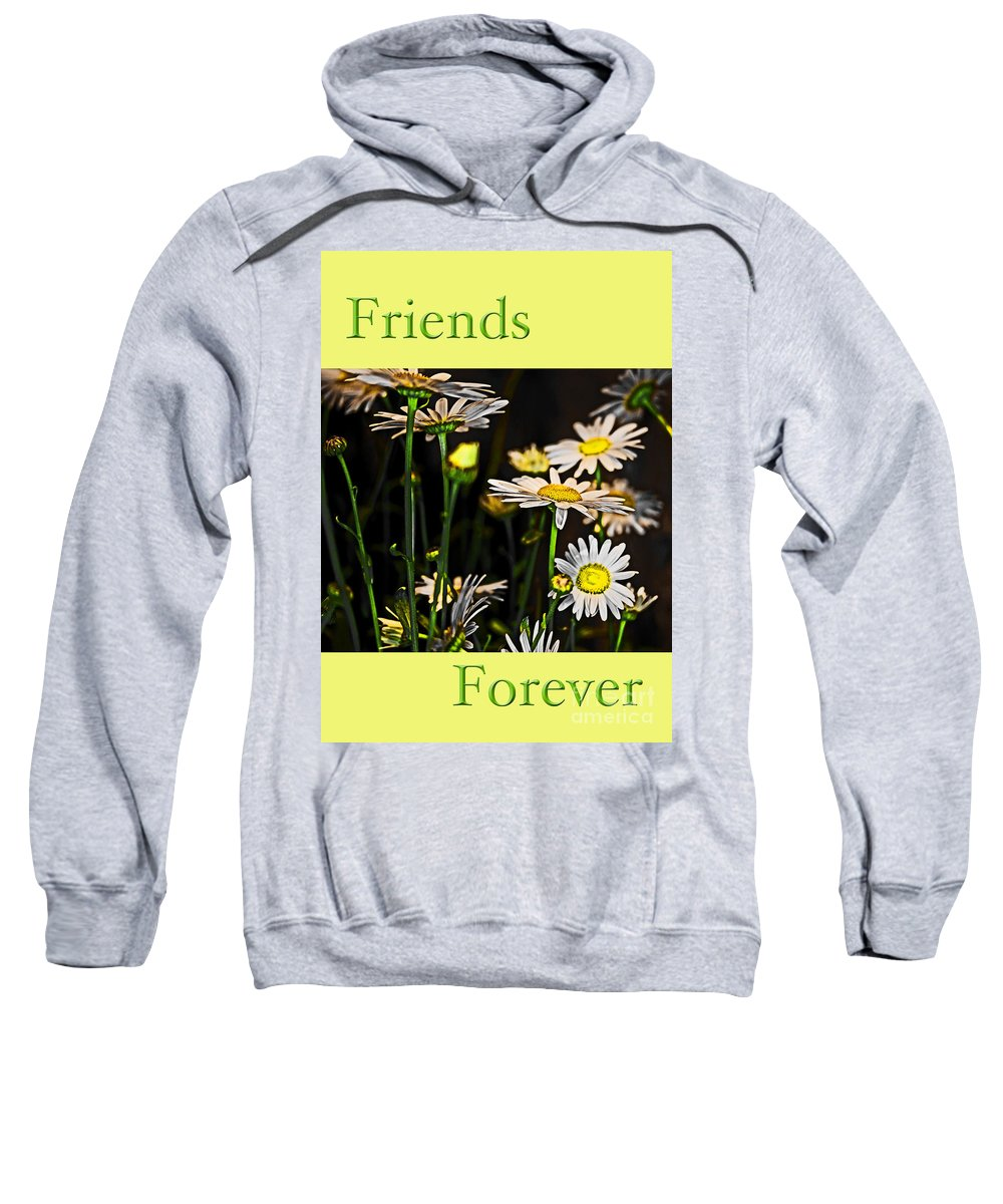 Daisy Sweatshirt featuring the photograph Friends Forever by Tom Gari Gallery-Three-Photography