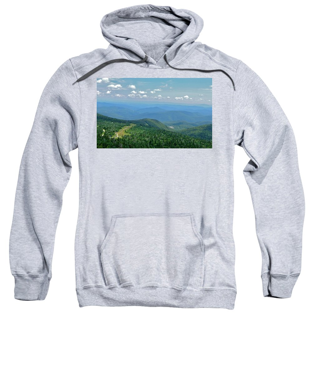 View Sweatshirt featuring the photograph From Mt. Killington by Susan Wyman