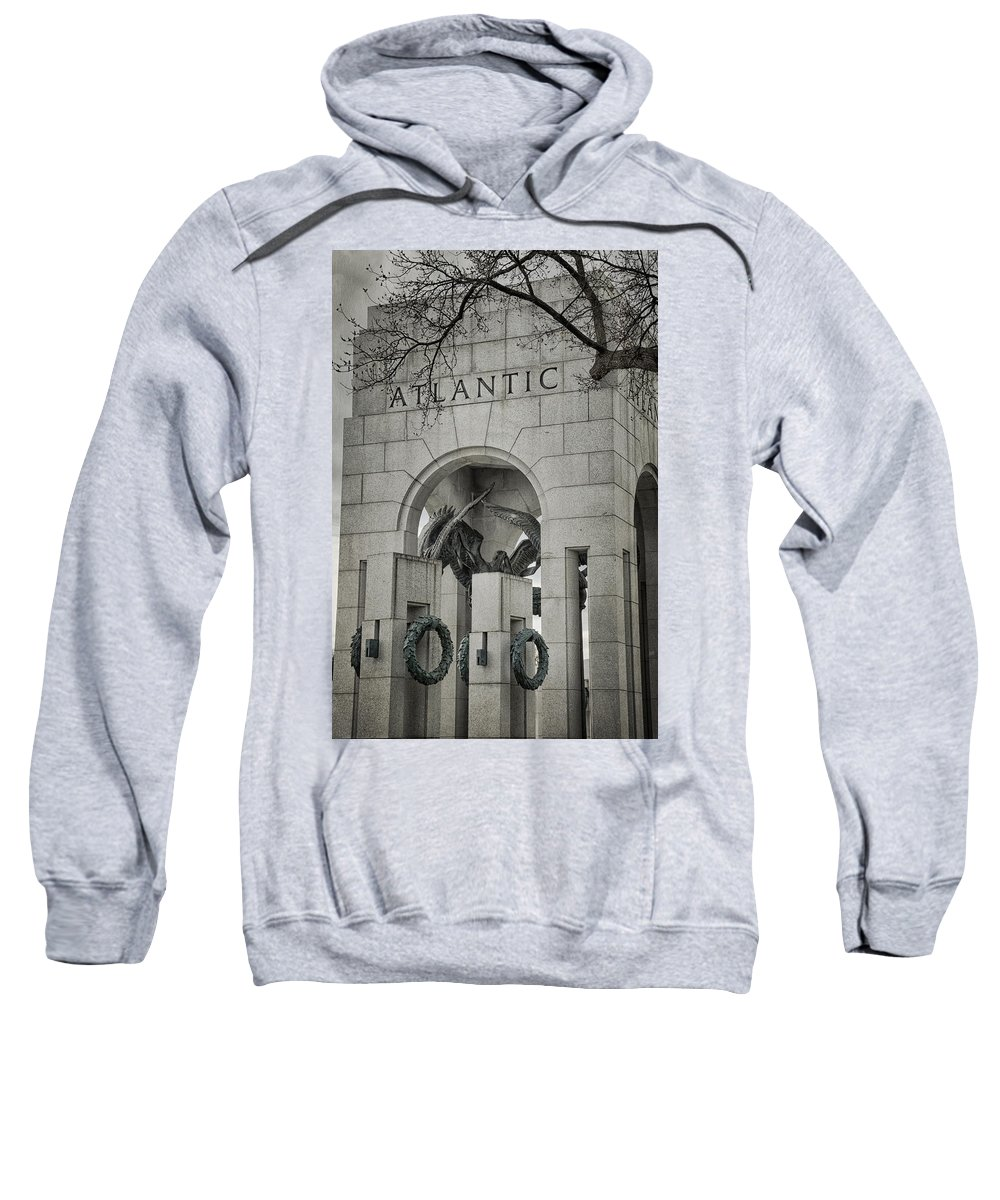 Monument Sweatshirt featuring the photograph From The Atlantic by Joan Carroll