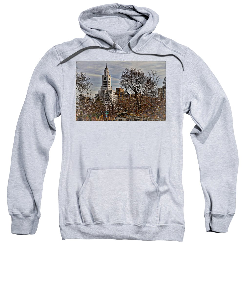 Philadelphia Sweatshirt featuring the photograph From The Rocks by Alice Gipson