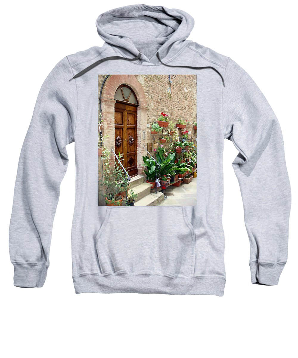Front Door Sweatshirt featuring the photograph Front Door by Ellen Henneke