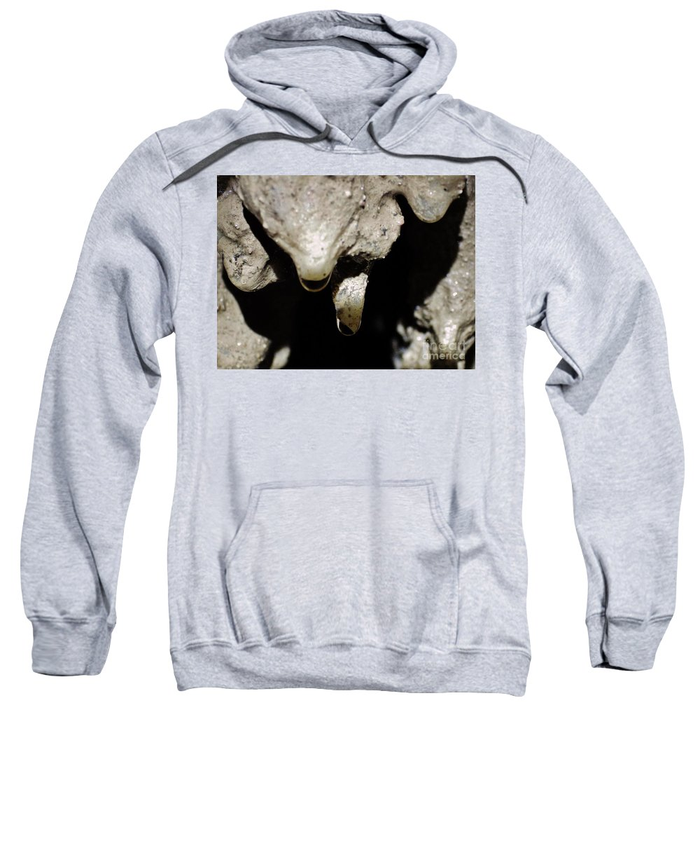 Cave Sweatshirt featuring the photograph Frozen In Time by Tonya Hance