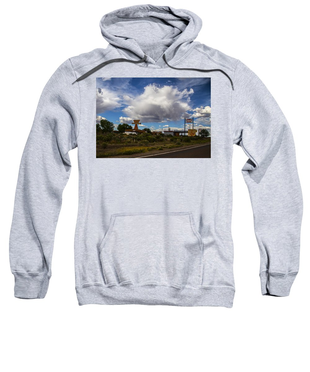 Route 66 Sweatshirt featuring the photograph Fuel Up by Angus Hooper Iii