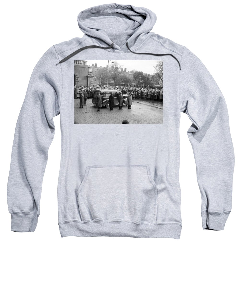 Sean South Sweatshirt featuring the photograph Funeral Of Sean South by Irish Photo Archive