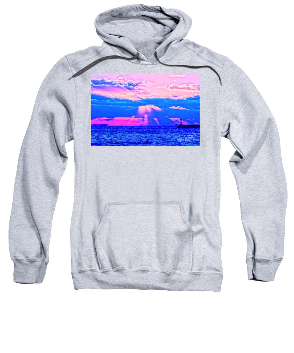 Sun Sweatshirt featuring the photograph Funset by Joe Geraci