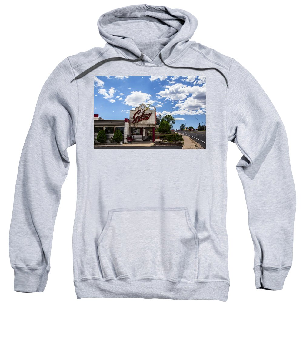 Route 66 Sweatshirt featuring the photograph Galaxy Diner by Angus Hooper Iii