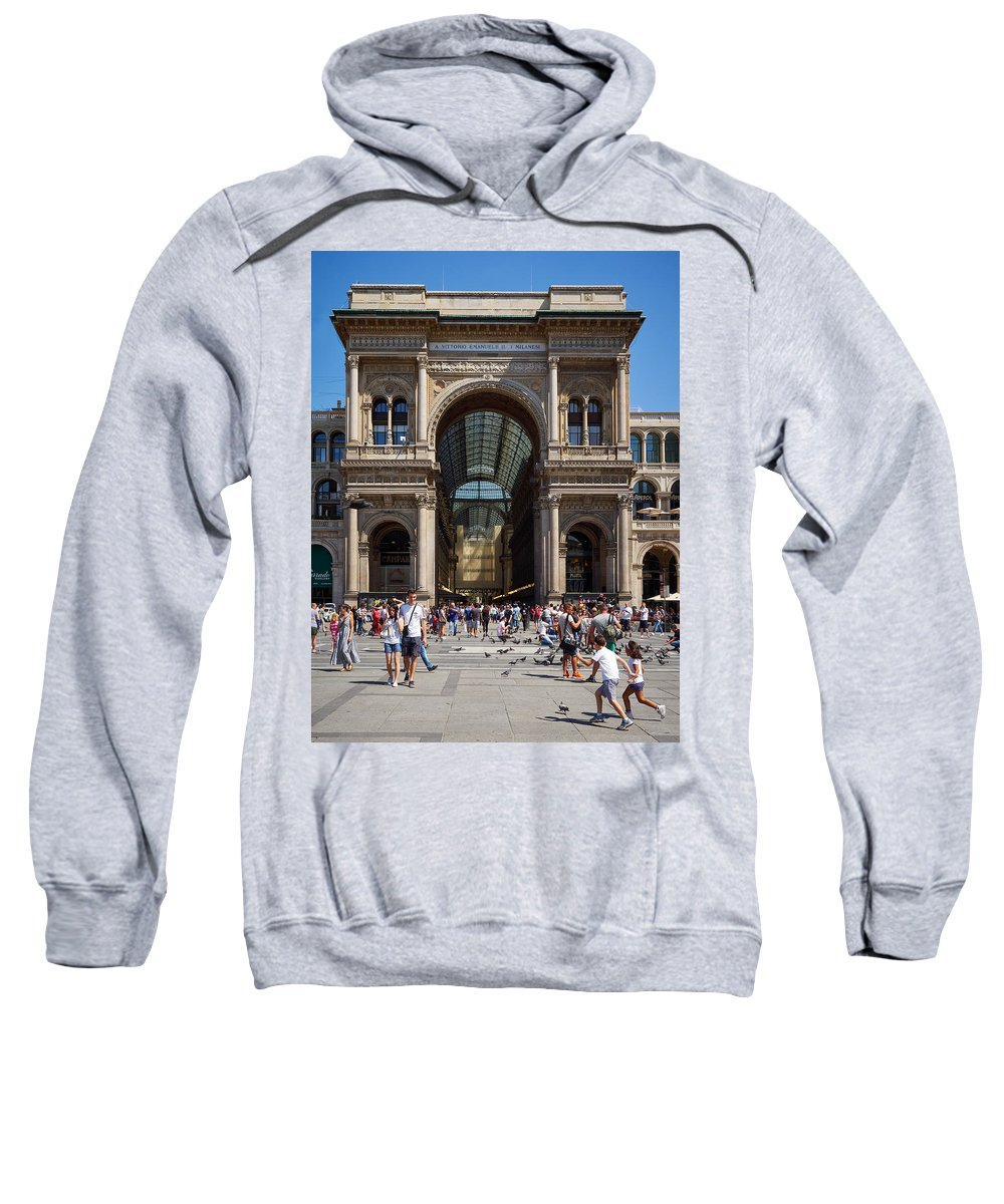 Italia Sweatshirt featuring the photograph Galleria Vittorio Emanuele. Milan by Jouko Lehto