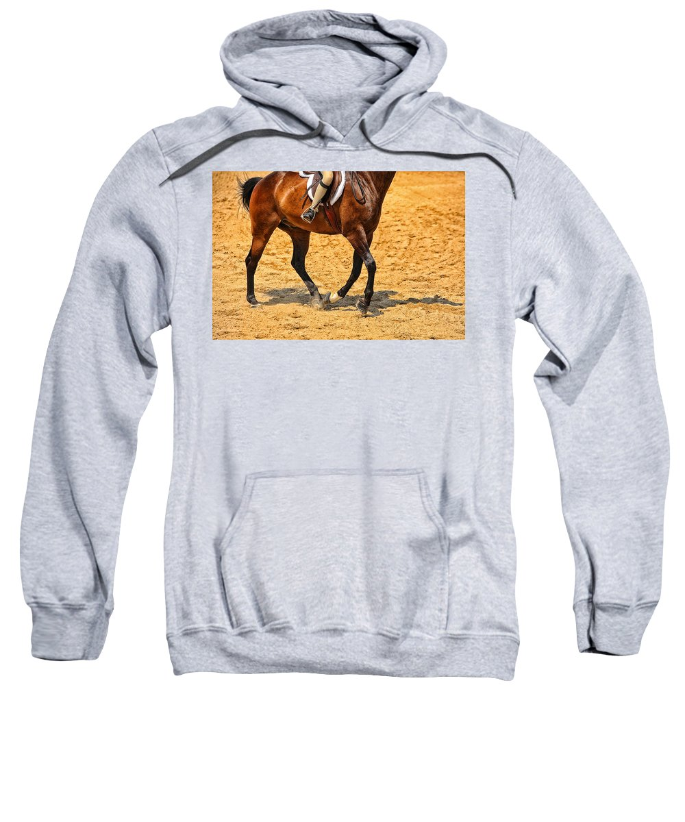 Horse Sweatshirt featuring the photograph Gallop by Karol Livote