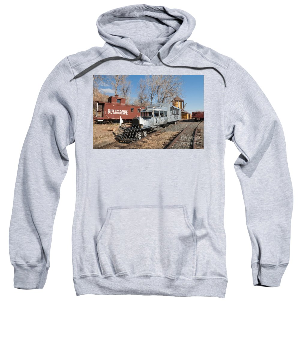 Colorado Sweatshirt featuring the photograph Galloping Goose 7 In The Colorado Railroad Museum by Fred Stearns