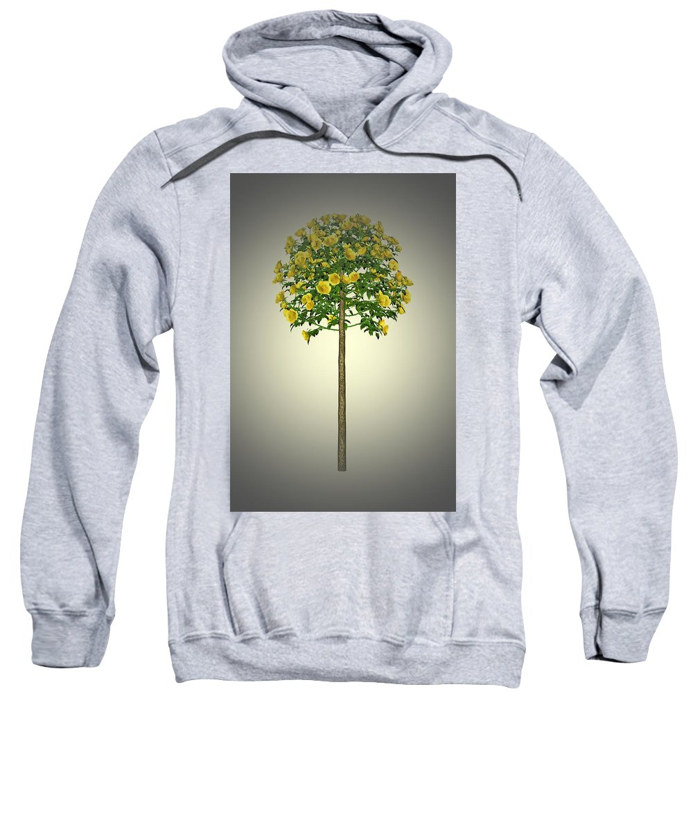 Garden Sweatshirt featuring the painting Garden Flowers 2 by Movie Poster Prints