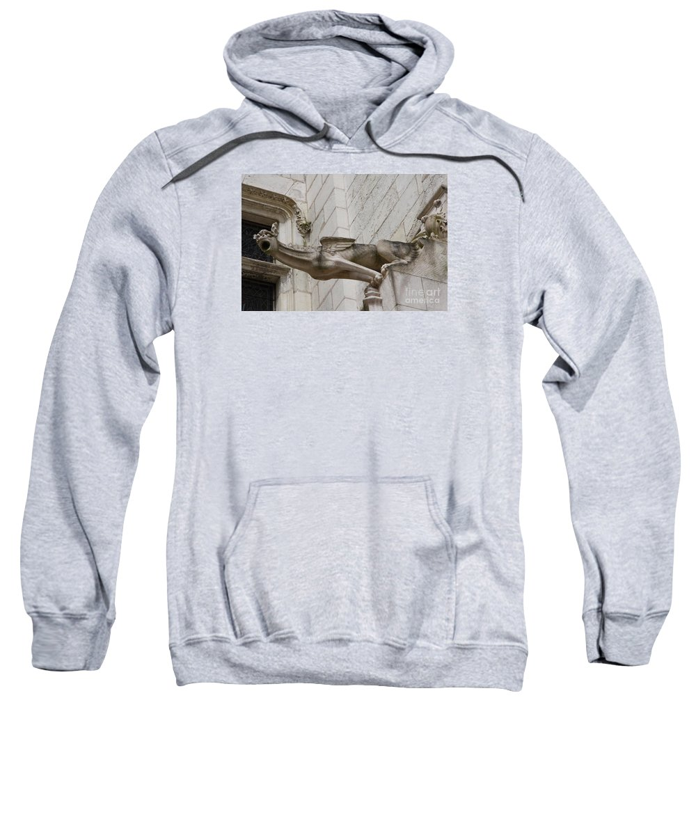 Gargole Sweatshirt featuring the photograph Gargoyle Cathedral Tours by Christiane Schulze Art And Photography