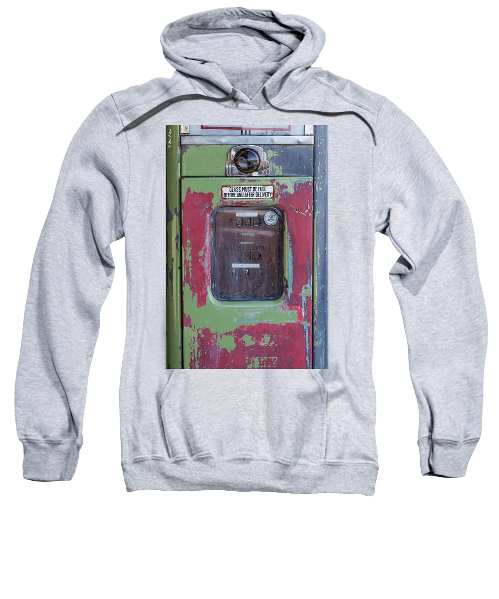 Artifacts Sweatshirt featuring the photograph Gas Pump by Alexander Fedin
