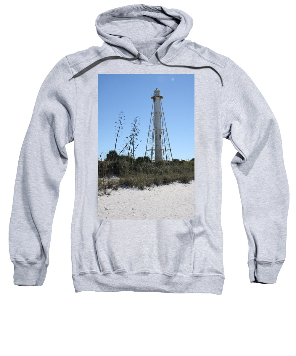 Steel Lighthouse Sweatshirt featuring the photograph Gasparilla Island Light II by Christiane Schulze Art And Photography