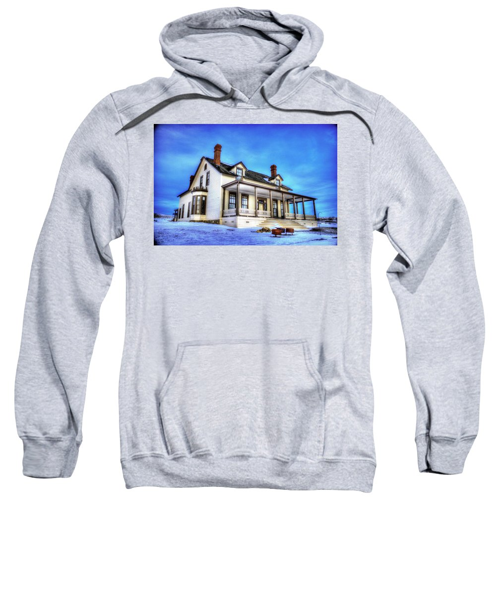 Lieutenant Sweatshirt featuring the photograph General Custer House by Chad Rowe