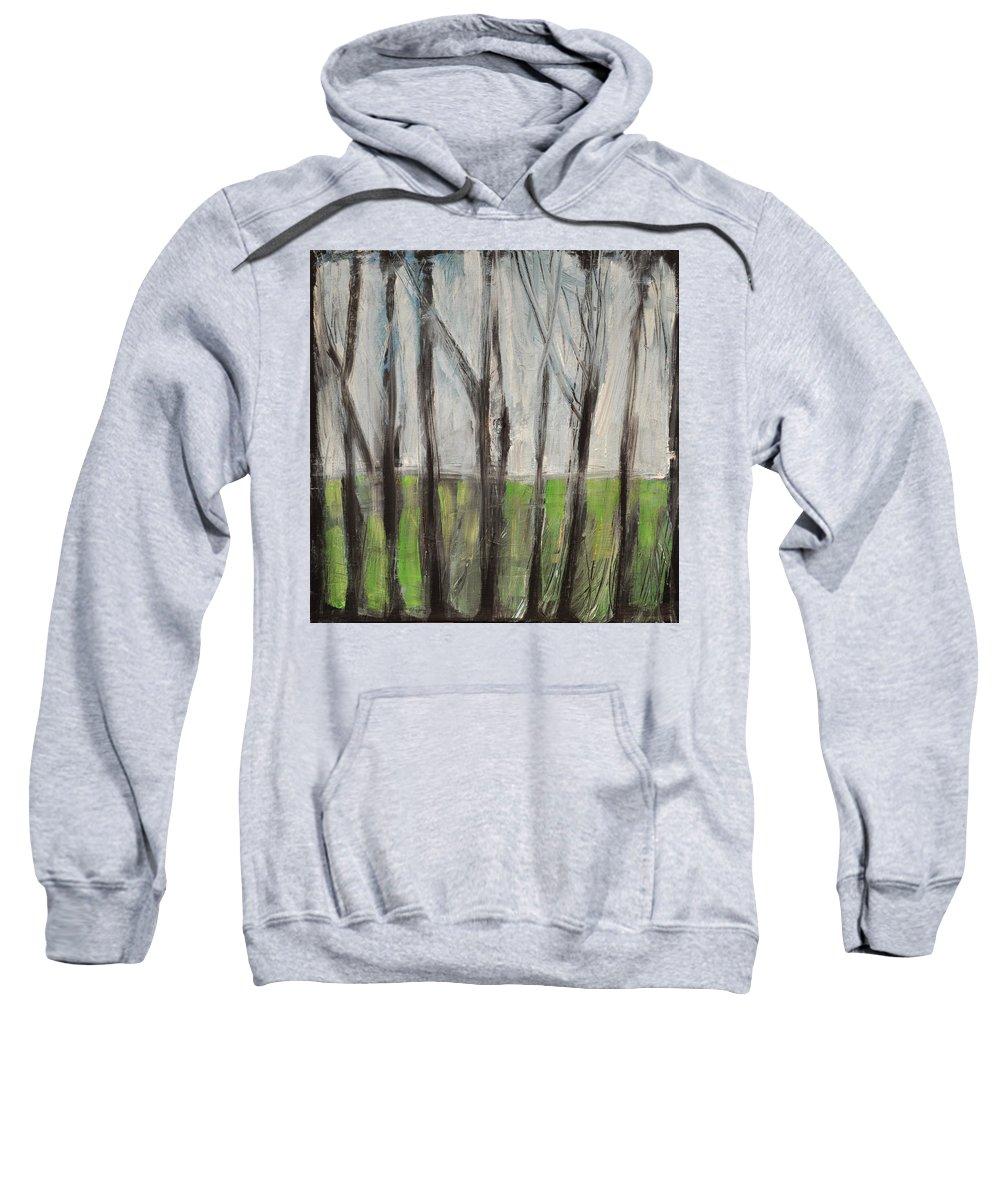 Trees Sweatshirt featuring the painting Gentle Rain by Tim Nyberg