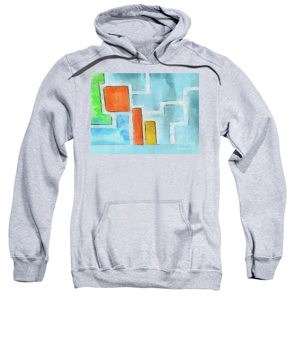 Modern Sweatshirt featuring the painting Geometric Abstract by Pixel Chimp
