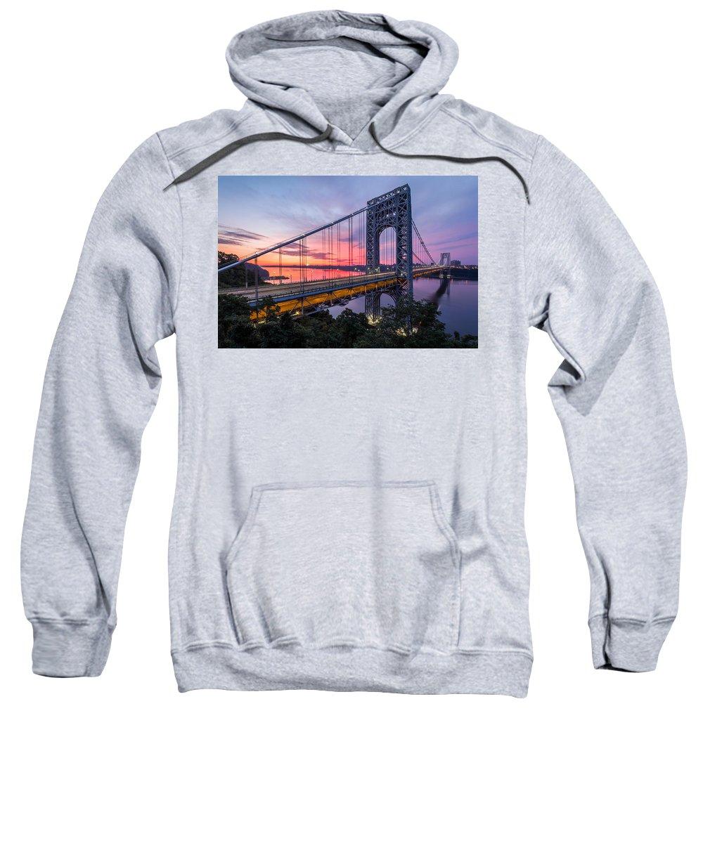 Horizontal Sweatshirt featuring the photograph George Washington Bridge by Mihai Andritoiu