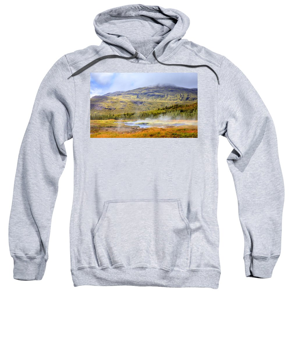 Europe Sweatshirt featuring the photograph Geothermal Pools by Alexey Stiop