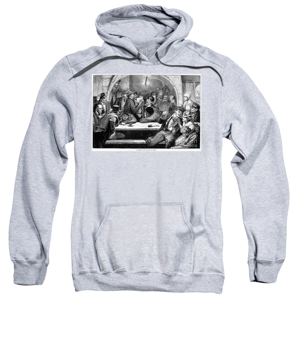 1875 Sweatshirt featuring the photograph Germany: Beer Cellar, 1875 by Granger