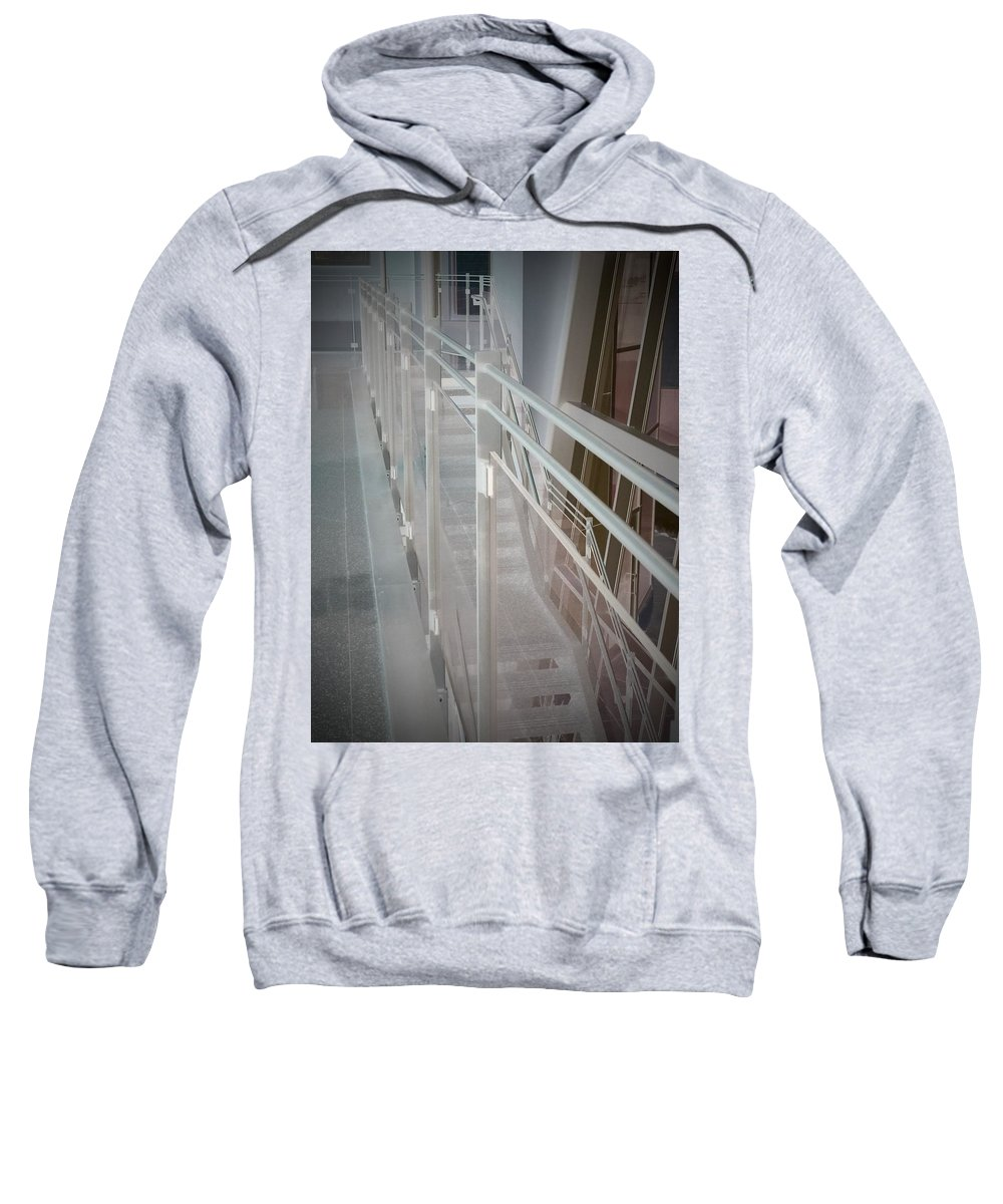 Railing Sweatshirt featuring the photograph Ghost Rails 2 by Jean Macaluso