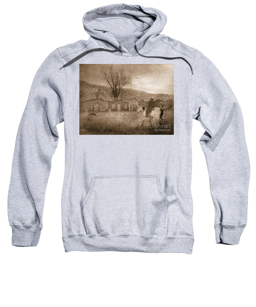 Cowboy Sweatshirt featuring the photograph Ghost Town #2 by Betty LaRue