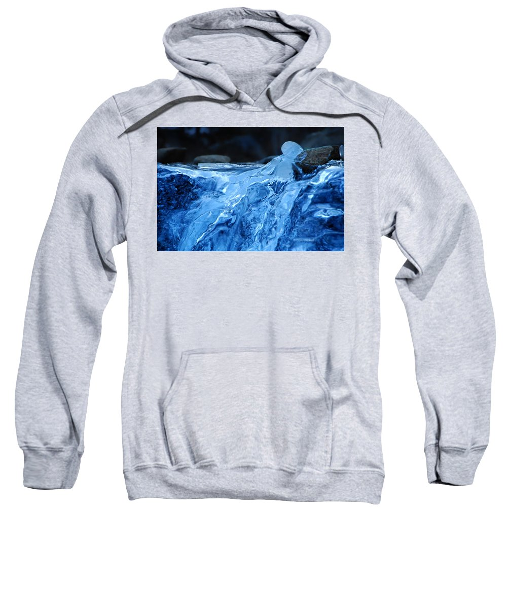 Ice Sweatshirt featuring the photograph Ghostly Ice by Donna Blackhall