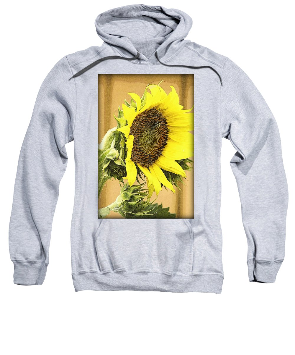 Gorgeous Sweatshirt featuring the photograph Giant Sunflower With Buds by Kay Novy