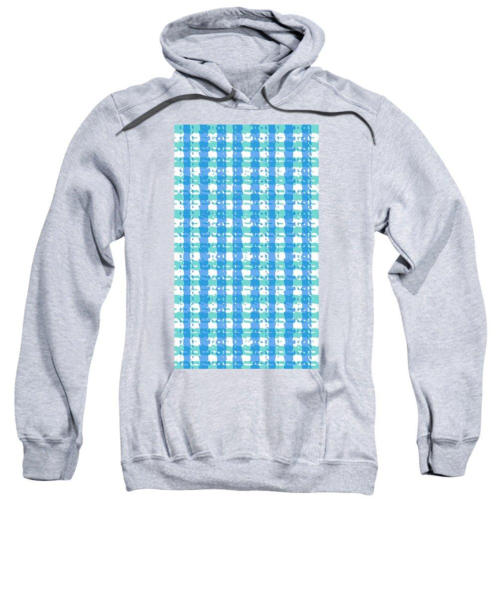 women's Fashion girl's Fashion fashion Design Fashion Design graphic Arts Graphics Sweatshirt featuring the photograph Gingham Glyphs by Bill Owen