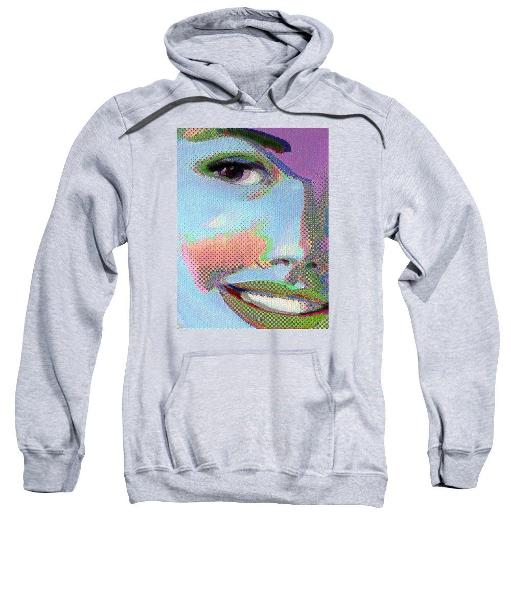Girl Sweatshirt featuring the painting Girl by Tony Rubino