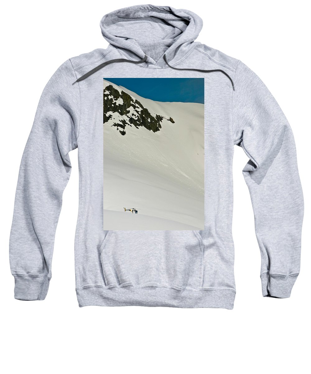 Canvas Sweatshirt featuring the photograph Glacier by Mark Llewellyn
