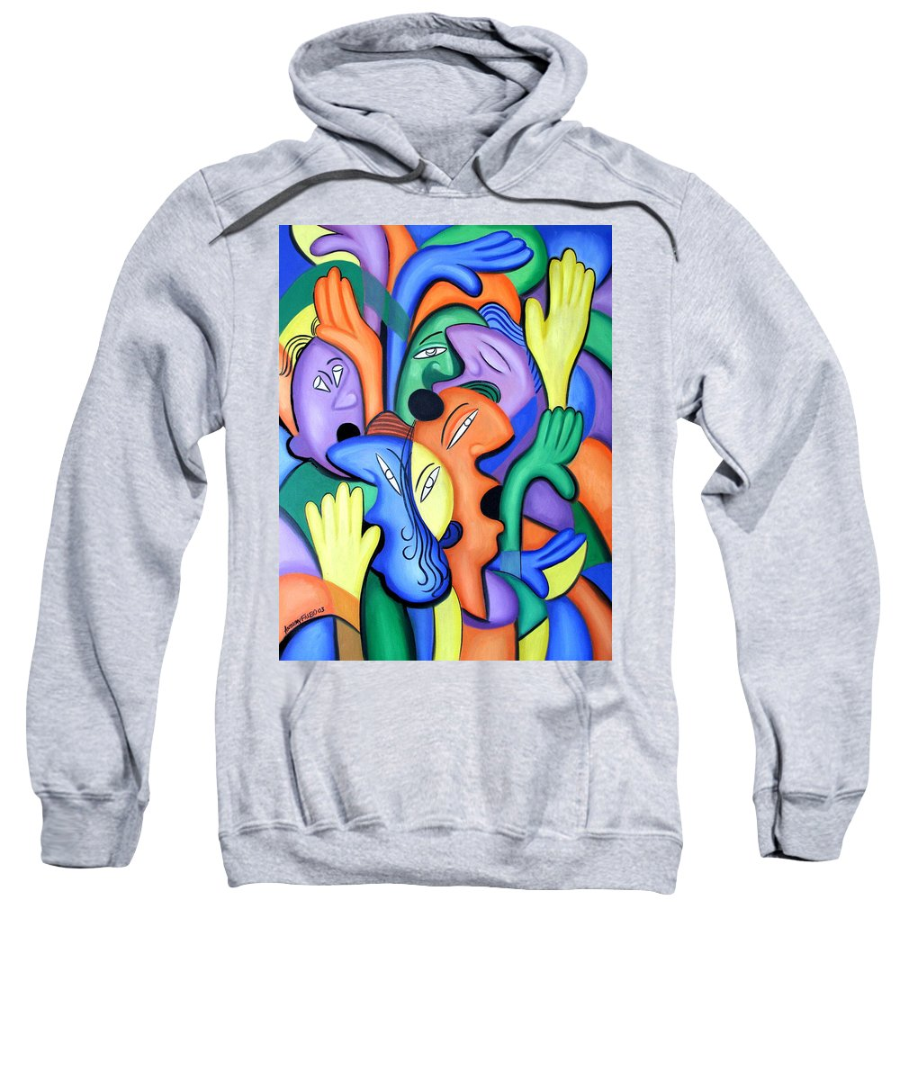 Glorify His Name Sweatshirt featuring the painting Glorify His Name by Anthony Falbo