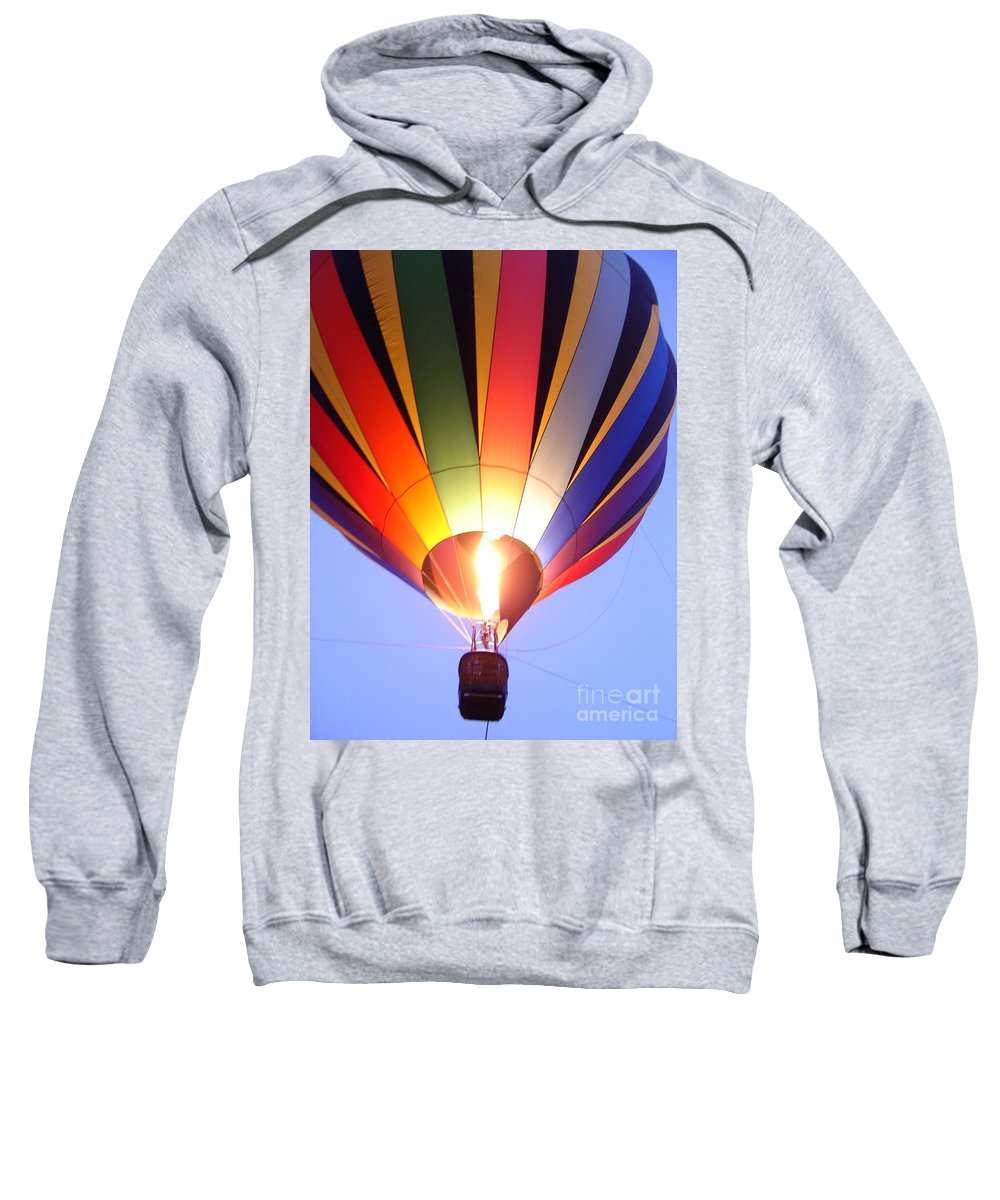 Landscape Sweatshirt featuring the photograph Glowing Balloon by Mary Rogers
