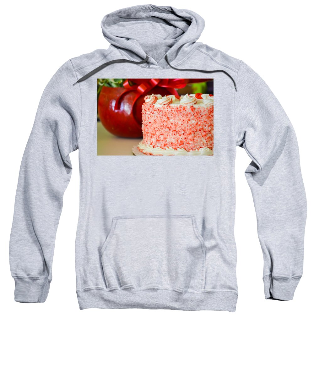 Peppermint Sweatshirt featuring the photograph Gluten Free Peppermint Cake by Michael Moriarty