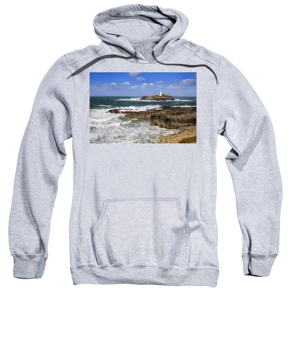 Cornish Sweatshirt featuring the photograph Godrevy Lighthouse - 5 by Chris Smith