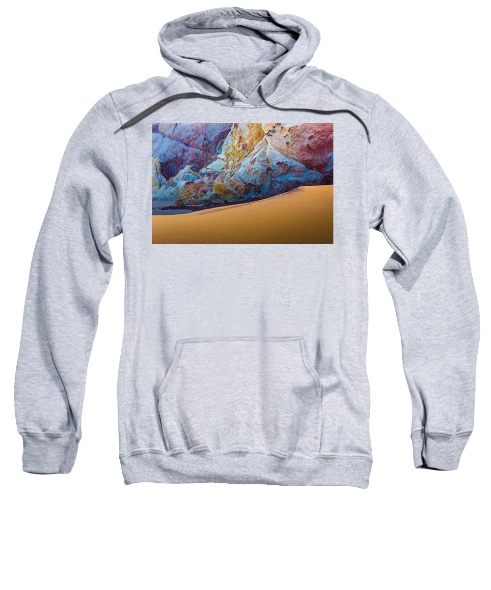 Gold Sweatshirt featuring the photograph Gold And Blue by Edgar Laureano