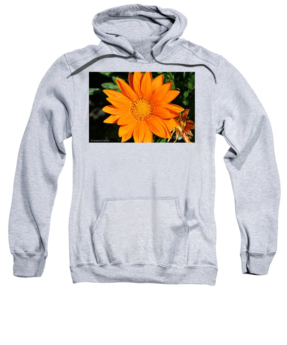 Flower Sweatshirt featuring the photograph Gold Ring by Susan Herber