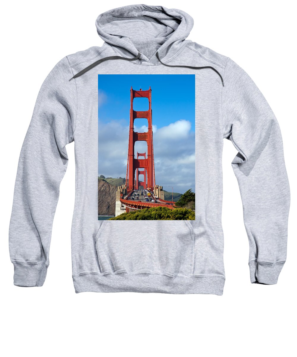3scape Sweatshirt featuring the photograph Golden Gate Bridge by Adam Romanowicz