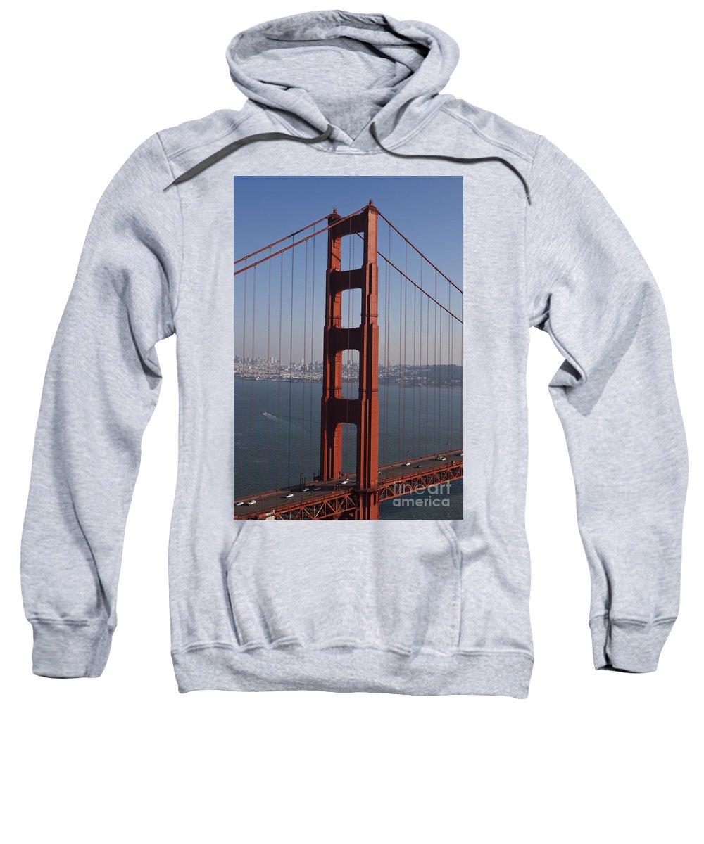 Golden Gate Bridge Sweatshirt featuring the photograph Golden Gate Bridge San Francisco by Jason O Watson