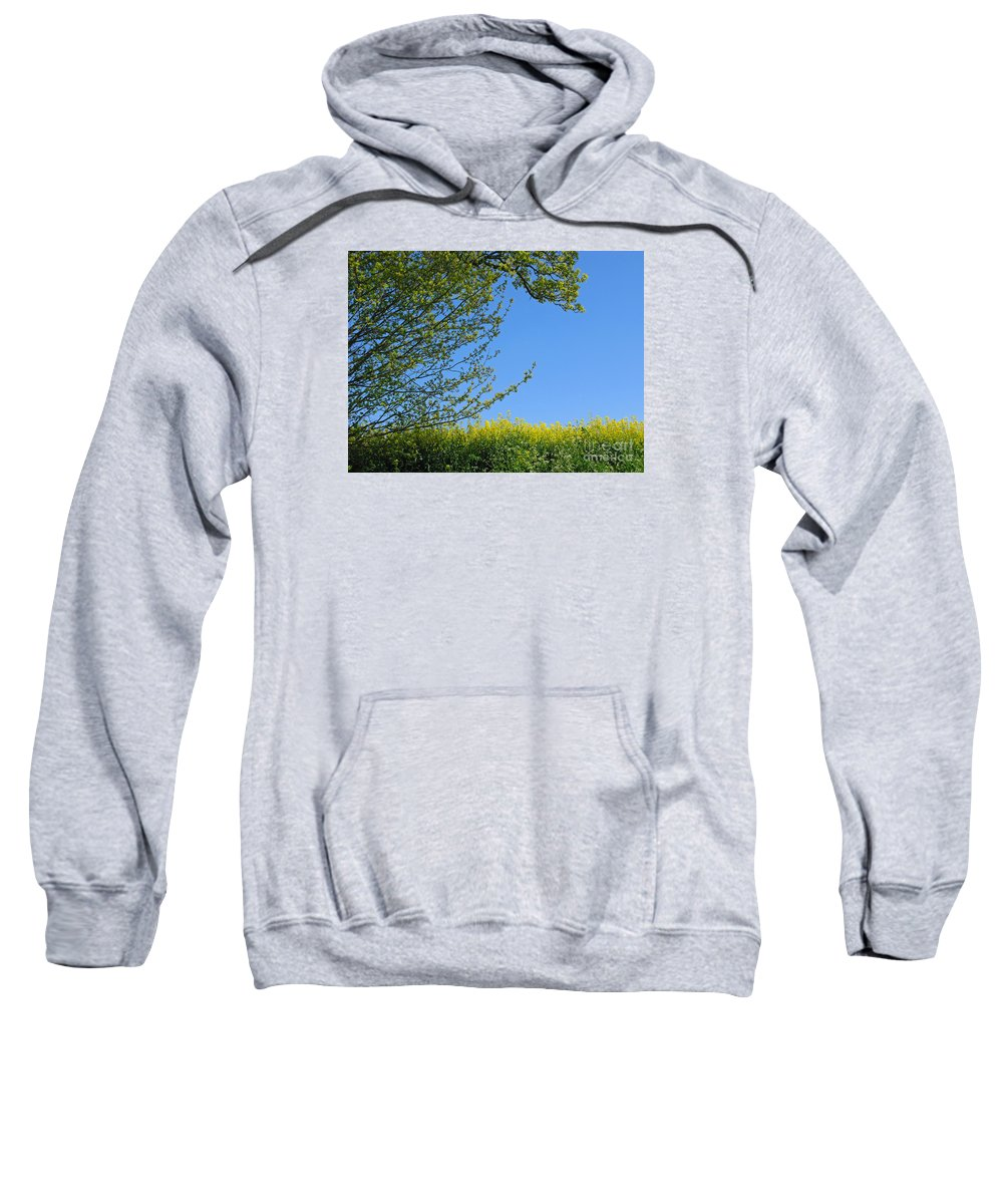 Spring Sweatshirt featuring the photograph Golden Growing Season by Ann Horn