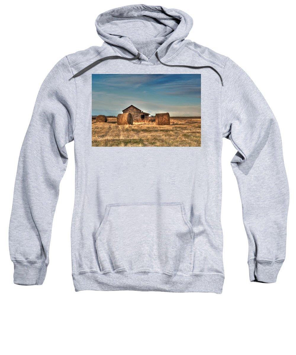 Texture Sweatshirt featuring the photograph Golden Hay by Lisa Knechtel