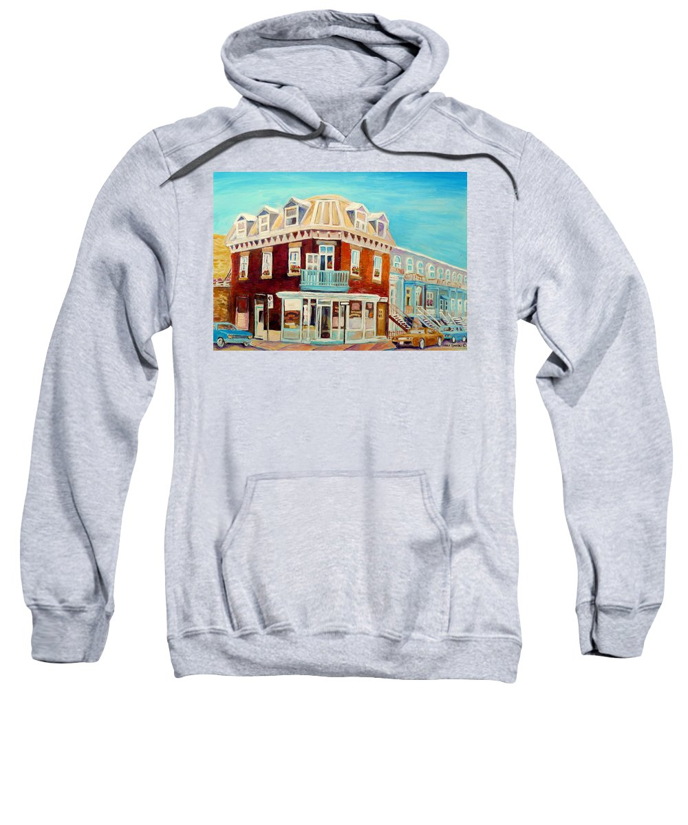 Bakeries Sweatshirt featuring the painting Golden Homemade Baked Goods by Carole Spandau