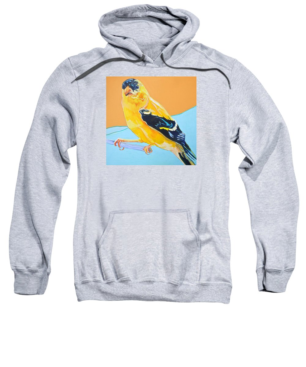 Birds Sweatshirt featuring the painting Goldfinch by Jamie Downs