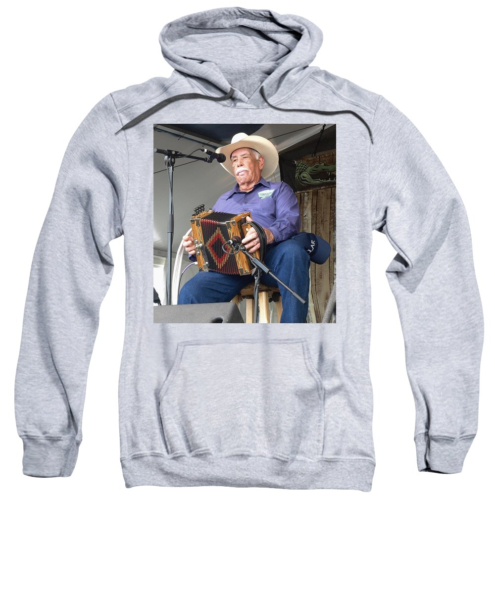 Music Sweatshirt featuring the photograph Goldman Thibodeaux by William Morgan