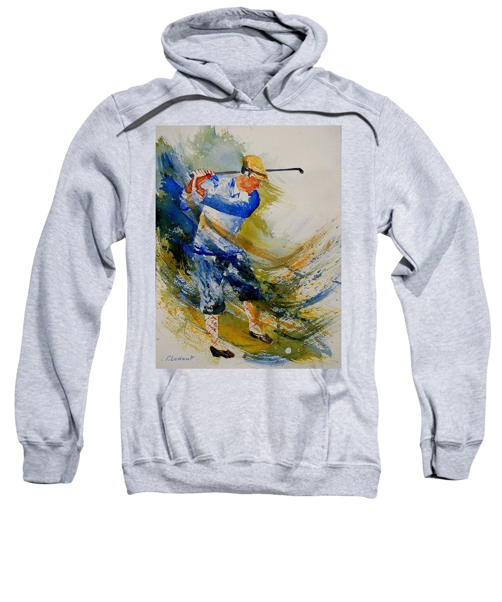 Golf Sweatshirt featuring the painting Golf Player by Pol Ledent