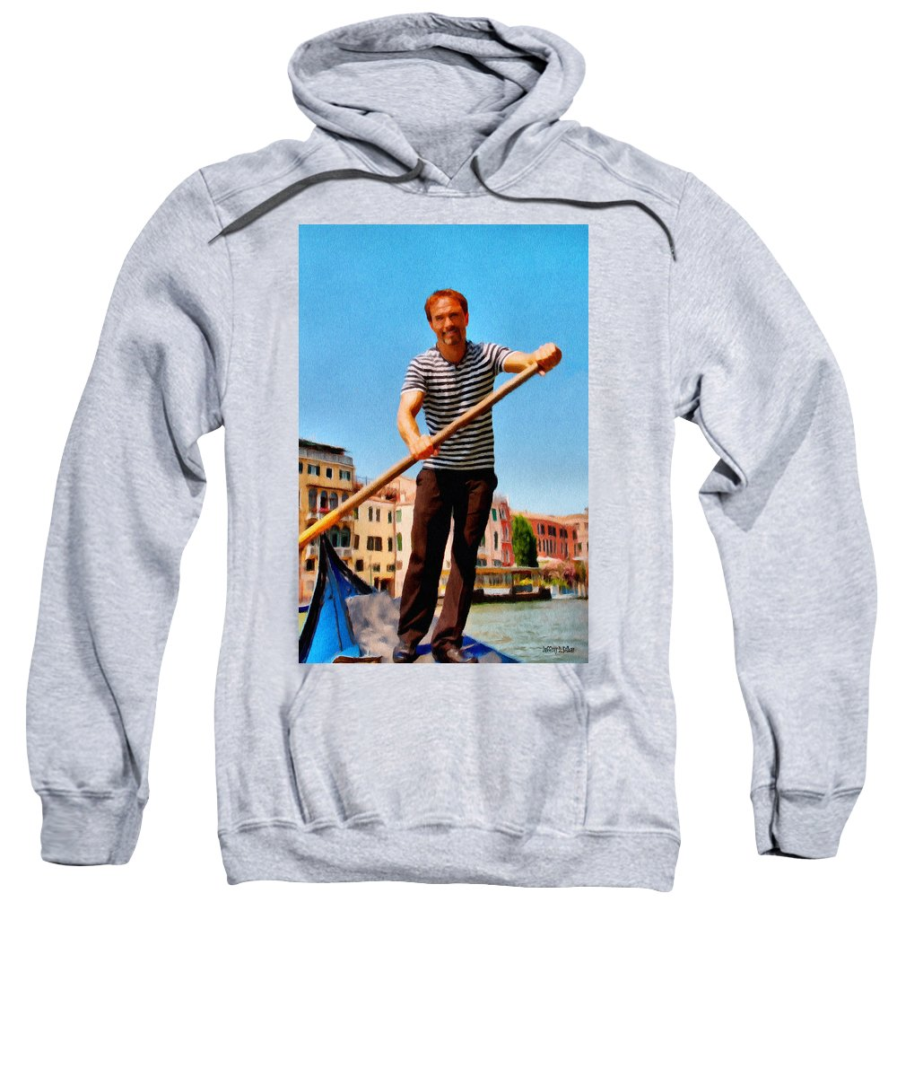 Europe Sweatshirt featuring the painting Gondolier by Jeffrey Kolker